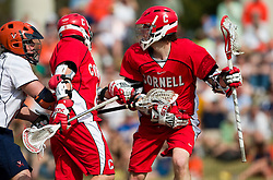 Cornell Big Red A Rob Pannell (3) in action against UVA.  The #1 ranked Virginia Cavaliers defeated the #4 ranked Cornell Big Red 14-10 at Klockner Stadium on the Grounds of the University of Virginia in Charlottesville, VA on March 8, 2009.