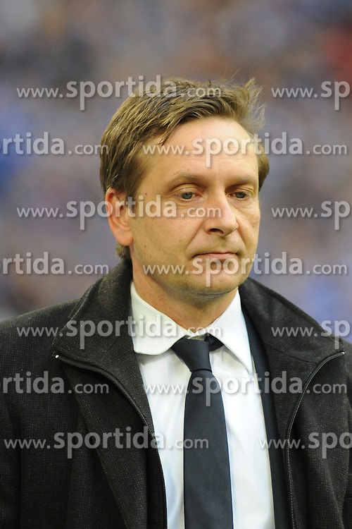13.04.2013, Veltins Arena, Gelsenkirchen, GER, 1. FBL, Schalke 04 vs Bayer 04 Leverkusen, 29. Runde, im Bild Manager Horst Heldt ( Schalke 04/ Portrait ) wirkt enttaeuscht // during the German Bundesliga 29th round match between Schalke 04 and Bayer 04 Leverkusen at the Veltins Arena, Gelsenkirchen, Germany on 2013/04/13. EXPA Pictures © 2013, PhotoCredit: EXPA/ Eibner/ Thomas Thienel..***** ATTENTION - OUT OF GER *****