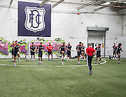 Dundee players warm up on first day back  -  Dundee FC pre-season testing at Manhattan Works, Dundee<br /> <br />  - &copy; David Young - www.davidyoungphoto.co.uk - email: davidyoungphoto@gmail.com