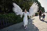 An angel's appearance outside the Giardini.