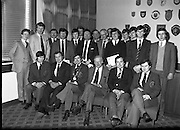 Bartenders Association of Ireland presenting certificates at lunch in Guinness Brewery...1983-02-21.21st February 1983.21/02/1983.02-21-83 ..Pictured at Guinness Brewery, St James's Gate, Dublin..Assembly of members who received certificates on successful completion of the BAI examination..Seated from left to right:..First - Andy O'Gorman, College of Marketing.Three - Frank O'Reilly, President of Bartenders Association of Ireland.