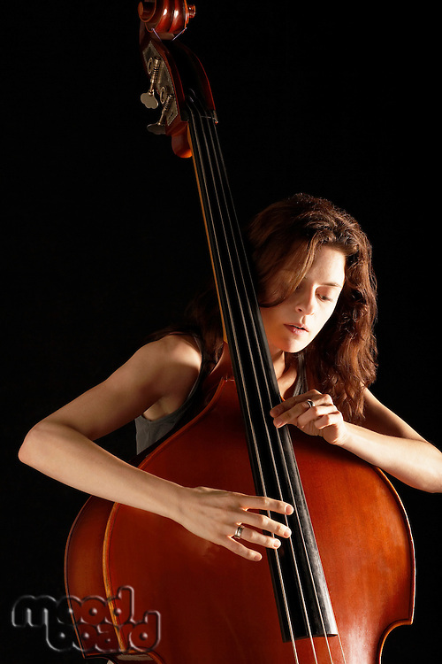 Woman Playing Double Bass