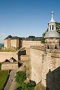 Festung Koenigstein, Saechsische Schweiz, Elbsandsteingebirge, Sachsen, Deutschland.|.Fort Koenigstein, Saxony, Germany