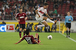 25.10.2013, Mercedes Benz Arena, Stuttgart, GEr, 1. FBL, VfB Stuttgart vs 1.FC Nuernberg, Fussball, 1.Bundesliga, 25.10.2013, 10. Runde, im Bild Links Hiroshi Kiyotake ( 1 FC Nuernberg ) Rechts Martin Harnik ( VfB Stuttgart ) Zweikampf, Aktion, Action // during the German Bundesliga 10th round match between VfB Stuttgart and 1. FC Nuernberg at the Mercedes Benz Arena in Stuttgart, Germany on 2013/10/26. EXPA Pictures © 2013, PhotoCredit: EXPA/ Eibner-Pressefoto/ Langer<br /> <br /> *****ATTENTION - OUT of GER*****