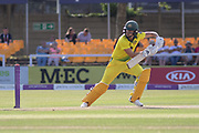 Ellyse Perry batting during the Royal London Women's One Day International match between England Women Cricket and Australia at the Fischer County Ground, Grace Road, Leicester, United Kingdom on 4 July 2019.