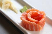 Raw salmon rose Sashimi
