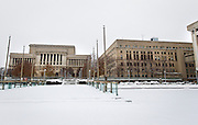 MILWAUKEE, WI – DECEMBER 16: A view of the Milwaukee County Courthouse, left, and Milwaukee Safety Building, right, on Friday, December 16, 2016.