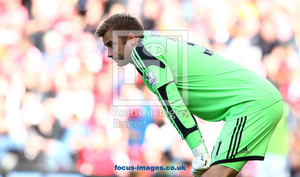 Picture by Paul Terry/Focus Images Ltd +44 7545 642257<br /> 06/10/2013<br /> Artur Boruc of Southampton during the Barclays Premier League match at the St Mary's Stadium, Southampton.