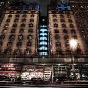 Some building density undergoing renovation in Manhattan.