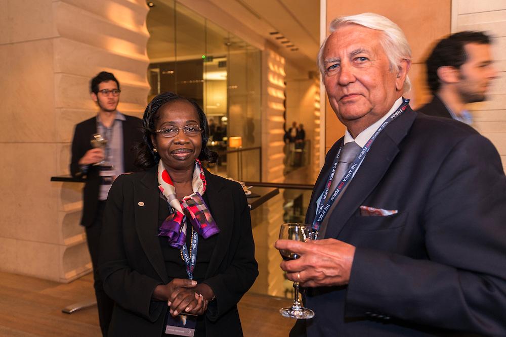 Evelyne Tall (à gauche), Africa CEO Forum, Soirée d'ouverture + coktail de bienvenue