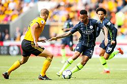 Gabriel Jesus of Manchester City takes on Ryan Bennett of Wolverhampton Wanderers - Mandatory by-line: Robbie Stephenson/JMP - 25/08/2018 - FOOTBALL - Molineux - Wolverhampton, England - Wolverhampton Wanderers v Manchester City - Premier League