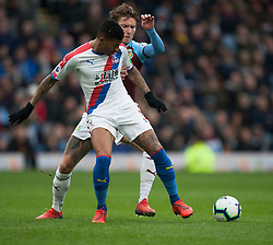 Patrick van Aanholt of Crystal Palace (L) and Jeff Hendrick of Burnley in action - Mandatory by-line: Jack Phillips/JMP - 02/03/2019 - FOOTBALL - Turf Moor - Burnley, England - Burnley v Crystal Palace - English Premier League