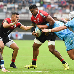 Iosefa TEKORI of Toulouse  during the Top 14 match between Montpellier and Toulouse on October 19, 2019 in Montpellier, France. (Photo by Alexandre Dimou/Icon Sport) - Iosefa TEKORI - Altrad Stadium - Montpellier (France)
