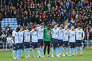 Im memory of Don Howe during the Sky Bet League 1 match between Coventry City and Port Vale at the Ricoh Arena, Coventry, England on 26 December 2015. Photo by Simon Davies.