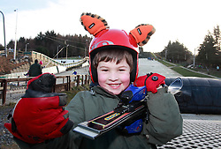 No fee for Repro: 22/01/2012.Mathew Love (5) from Rathmolyon Co Meath is pictured during World Snow Day at the Ski Club of Ireland in Kilternan who hosted a festival day of snowsports activities. Pic Andres Poveda.