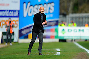 Exeter City manager Paul Tisdale during the Sky Bet League 2 match between Exeter City and Plymouth Argyle at St James' Park, Exeter, England on 2 April 2016. Photo by Graham Hunt.