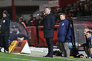 Ryan Lowe   during the EFL Sky Bet League 2 match between Cheltenham Town and Bury at LCI Rail Stadium, Cheltenham, England on 5 March 2019.