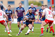 Leeds Rhinos second row Jamie Jones-Buchanan (11) in action  during the Betfred Super League match between Hull Kingston Rovers and Leeds Rhinos at the Lightstream Stadium, Hull, United Kingdom on 29 April 2018. Picture by Simon Davies.