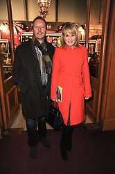 NICKI CHAPMAN and her husband DAVE SHACKLETON at the gala opening night of Cirque du Soleil's Varekai at the Royal Albert Hall, London on 5th January 2010.