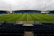 View of the b2net stadium, during the EFL Sky Bet League 2 match between Chesterfield and Wycombe Wanderers at the b2net stadium, Chesterfield, England on 28 April 2018. Picture by Paul Thompson.
