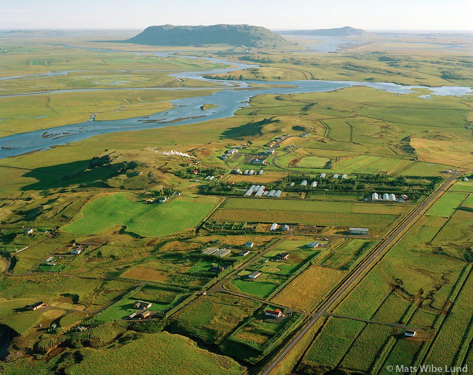 Reykholt séð til suðvesturs, Bláskógabyggð áður Biskupstungnahreppur / Reykholt viewing sothwest, Blaskogabyggd former Biskupstungnahreppur.