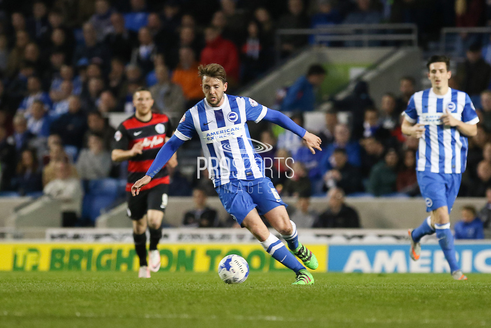 Brighton central midfielder, Dale Stephens (6) during the Sky Bet Championship match between Brighton and Hove Albion and Queens Park Rangers at the American Express Community Stadium, Brighton and Hove, England on 19 April 2016. Photo by Phil Duncan.