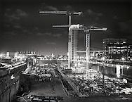 Docklands construction site<br /> <br /> December 2000