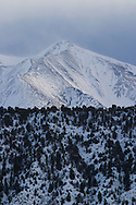 Winter snow on the flanks of Mt. Sopris near Carbondale, Colorado