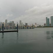 SEPTEMBER 9, 2017--MIAMI--FLORIDA<br /> A view of clouds over the skyline of downtown Miami Saturday morning. <br /> (Photo by Angel Valentin)