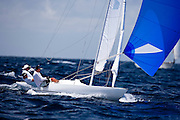 Dragon Class sailing in the Antigua Classic Yacht Regatta, Windward Race.