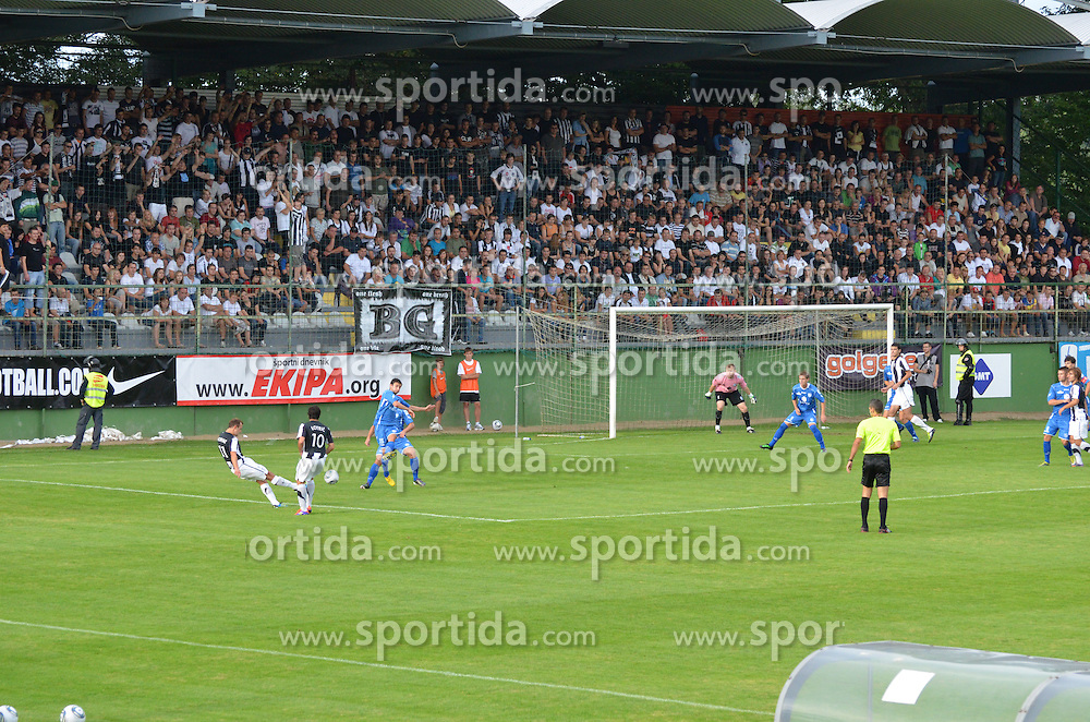 at football game between NK Mura 05 and Nafta Lendava of 3rd Round of PrvaLiga, on July 31, 2011, in Stadium Fazanerija, Murska Sobota, Slovenia. (Photo by Andreja Potocnik / Sportida.com)