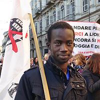 Torino, 8 dicembre 2018: la più grande manifestazione notav,  scesi in piazza a Torino per dire No alla linea ad alta velocità Torino-Lione