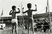 I heard about an 'akhara kushti' wrestling match that was to be held on a weekend at Andheri Sports Complex. I attended out of curiousity, shot some images that were printed in 'Man's World', and this image won the Commonwealth Photographer for Asia in 2004.