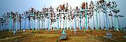 MEXICO, MAYAN, CHIAPAS Chamula graveyard at Romerio