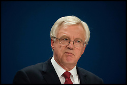 October 2, 2016 - Birmingham, West Midlands, United Kingdom - Image ©Licensed to i-Images Picture Agency. 02/10/2016. London, United Kingdom. ..Conservative Party Conference Day 1. ..David Davis, the secretary of state for exiting the European Union, speaks at The ICC in Birmingham on the first day of the Conservative Party Conference...Picture by Ben Stevens / i-Images (Credit Image: © Ben Stevens/i-Images via ZUMA Wire)