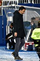 Leganes vs Villarreal coach Javi Calleja dejected during Copa del Rey match. 20180104.