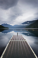 Boat dock Lake Crescent Olympic National Park