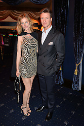 EVA HERZIGOVA and GREGORIO MARSIAJ at The Hoping Foundation's 'Starry Starry Night' Benefit Evening For Palestinian Refugee Children held at The Cafe de Paris, Coventry Street, London on 19th June 2014.
