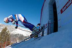 27.12.2011, Pista Stelvio, Bormio, ITA, FIS Weltcup Ski Alpin, Herren, Abfahrt, 1. Training, im Bild am Start Guillermo Fayed (FRA) // Guillermo Fayed of France at the start during first practice session downhill of FIS Ski Alpine World Cup at 'Pista Stelvio' in Bormio, Italy on 2011/12/27. EXPA Pictures © 2011, PhotoCredit: EXPA/ Johann Groder
