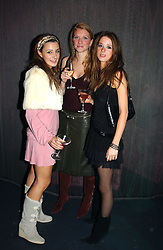Left to right, MELISSA DEL BONO, CHLOE SIEVWRIGHT and CHARLOTTE COWEN at a party hosted by Panerai and the Baglioni Hotel, 60 Hyde Park Gate, London on 6th December 2004.<br /><br />NON EXCLUSIVE - WORLD RIGHTS