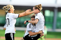 Fifa Womans World Cup Canada 2015 - Preview //<br /> Algarve Cup 2015 Tournament ( Vila Real San Antonio Sport Complex - Portugal ) - <br /> Germany vs Sweden 2-4   -  Simone Laudehr of Germany , celebrates with team mates Lena Goessling (L) and Jennifer Cramer (M) after his goal (2-0)