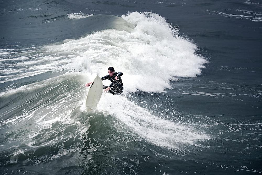 Surfing on Texas Coast