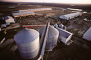 Pigs/Swine/Hog: New style, all metal buildings at a hog farm in Greenfield, Iowa. USA.