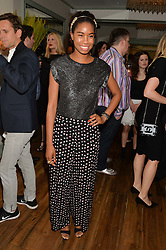 TOLULA ADEYEMI at the 50th anniversary party for Daphne's restaurant, 112 Draycott Avenue, London held on 24th June 2014.