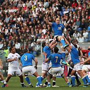 Roma 04/02/2018 Stadio Olimpico<br /> Natwest 6 nations Italia vs Inghilterra<br /> Sergio Parisse in touche