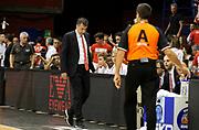 DESCRIZIONE : Milano Campionato Lega A 2013-2014  EA7 Emporio Armani Milano Montepaschi Siena playoff  Finale Gara 5<br /> GIOCATORE : Luca Banchi<br /> CATEGORIA : Coach FairPlay Arbitro Composizione Delusione<br /> SQUADRA : EA7 Emporio Armani Milano<br /> EVENTO : Campionato Lega A 2013-2014 playoff  Finale Gara 5 <br /> GARA : EA7 Emporio Armani Milano Montepaschi Siena playoff  Finale Gara 5<br /> DATA : 23/06/2014 <br /> SPORT : Pallacanestro <br /> AUTORE : Agenzia Ciamillo-Castoria/A.Giberti <br /> GALLERIA : Lega A playoff 2013-2014 <br /> FOTONOTIZIA : Milano Campionato Lega A 2013-2014  EA7 Emporio Armani Milano Montepaschi Siena playoff  Finale Gara 5