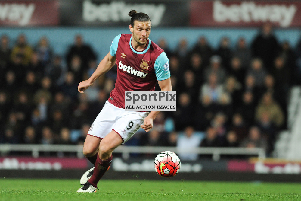 West Hams Andy Carroll in action during the West Ham v Watford match in the Barclays Premier League on the 20th April 2016.