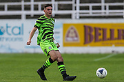 Forest Green Rovers Liam Kitching(20) passes the ball forward during the Pre-Season Friendly match between Bath City and Forest Green Rovers at Twerton Park, Bath, United Kingdom on 27 July 2019.