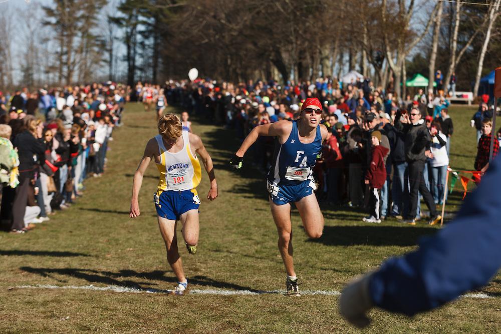 New England High School XC Championship, Jake Feinstein, Silas Eastman race for third