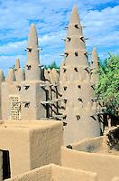 Mali -  Région de Mopti  - Village Bozo - Mosquée
